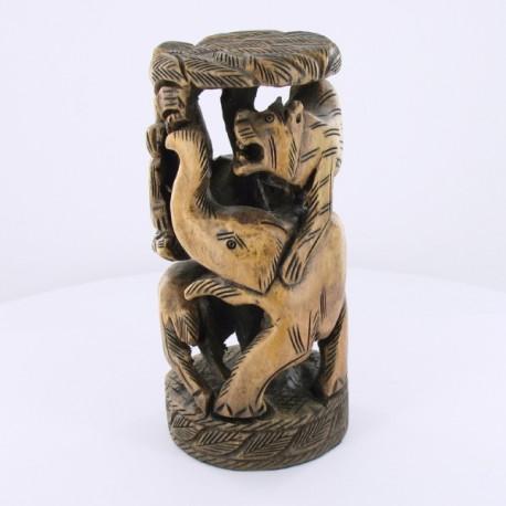statue en bois animaux