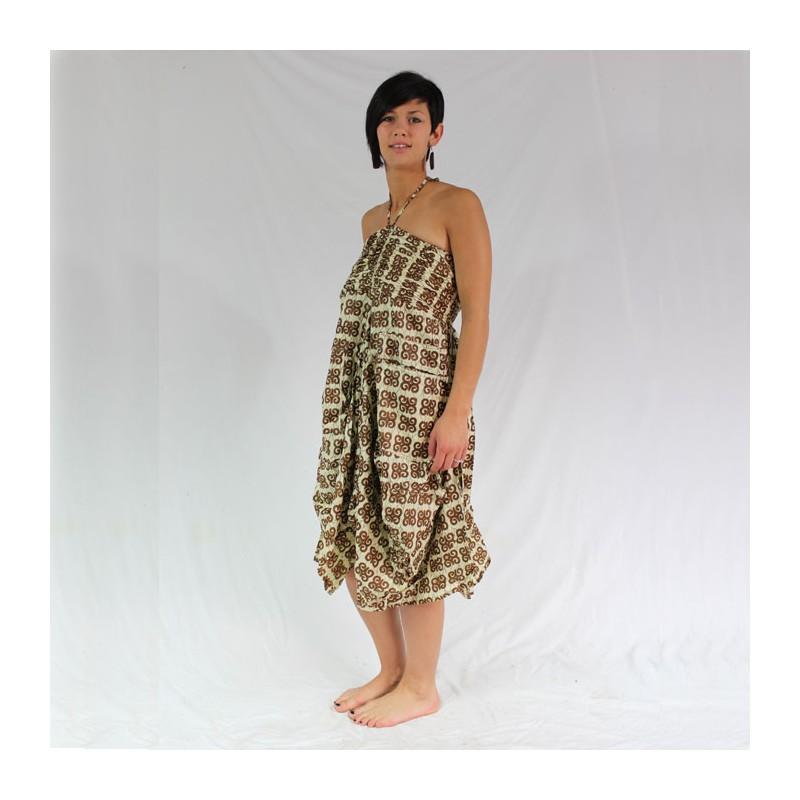 robe t femme coton imprim indien. Black Bedroom Furniture Sets. Home Design Ideas