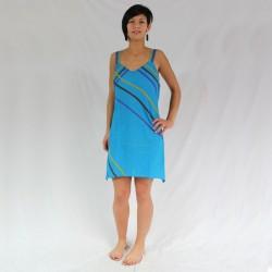 Robe Courte Turquoise