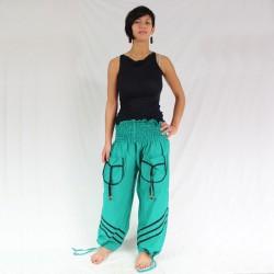 Pantalon Coton Vert