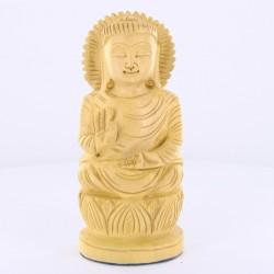 Statue indienne Bouddha en bois 13cm