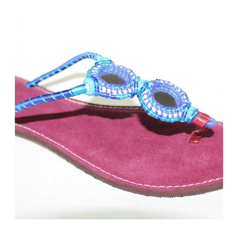 Sandales Type Bleue Indienne Tong Boutique CrExQdeBoW