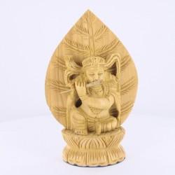 Statue Indienne de Krishna en bois