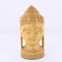 Statue indienne Tête de Bouddha Bois de 10cm