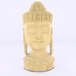 Statue indienne Tête de Bouddha Bois de 13cm