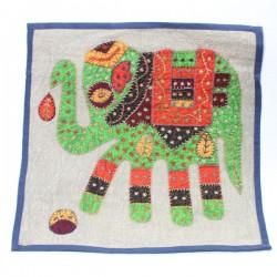 Housse de coussin Patchwork éléphant