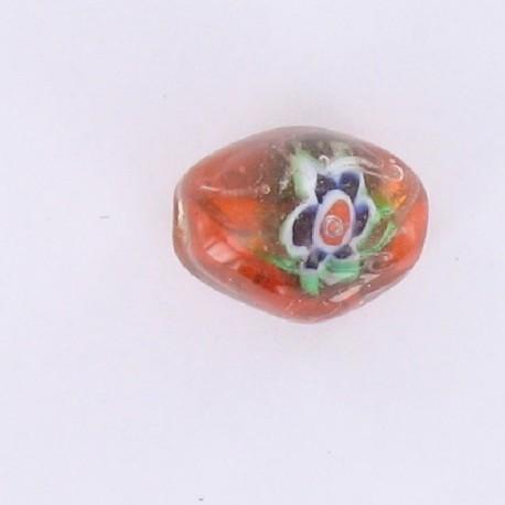 perle ovale orange Inde