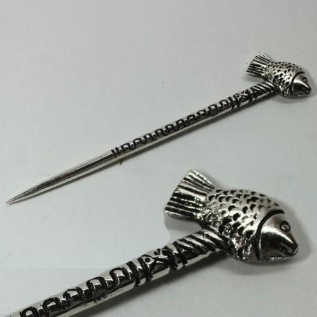 pic cheveux métal fleur de lys