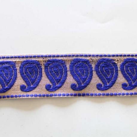 galon indien motifs cachemire