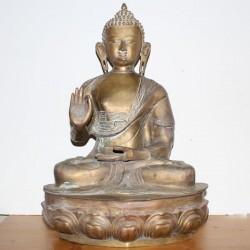 Statue indienne Bouddha vieilli Grande Taille