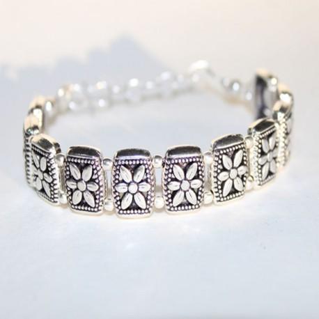 Bracelet indien argenté