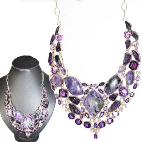 collier indien pierres
