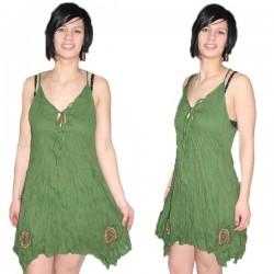 Robe indienne légère vert clair