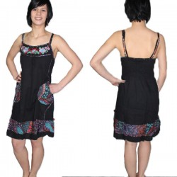 Robe coton Indien Thai Noir