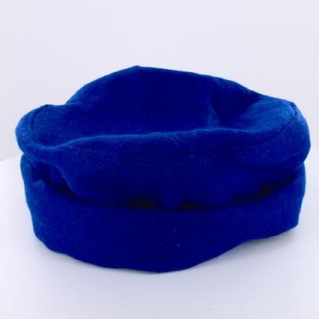 Chapeau Afghan en Laine Bleu