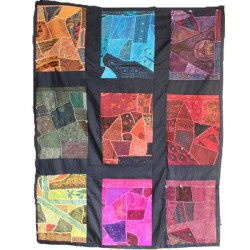 Patchwork indien Mural 9 cases