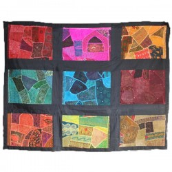 Patchwork Mural 9 Cases Horizontal