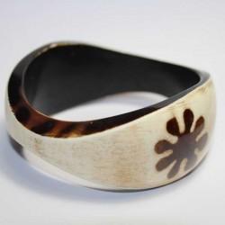Bracelet indien Fleur Noir & Blanc