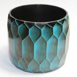Bracelet indien facette turquoise