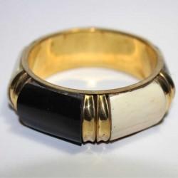 Bracelet indien Cuivre Os Noir & Blanc