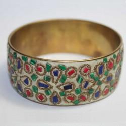 Bracelet indien Cuivre & Eclats de pierres