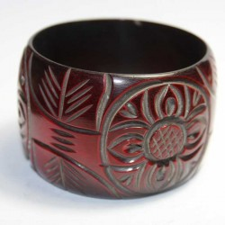 Bracelet indien Résine Fleur Rouge