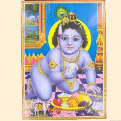 """Poster dieu Hindou """"Bébé Krishna"""""""