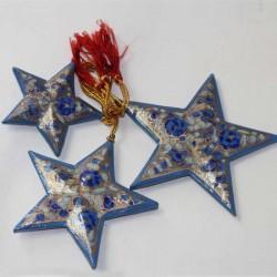 3 étoiles papier maché Cachemire artisanat
