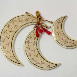 3 lunes papier maché artisanat indien Décoration Noel