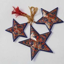 3 étoiles papier maché Cachemire