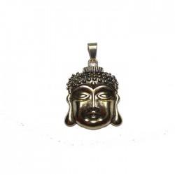 Pendentif doré tête Bouddha
