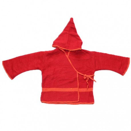 Top Lutin Polaire Enfant Rouge & Orange
