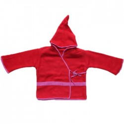 Top Lutin Polaire Enfant Rouge & Rose