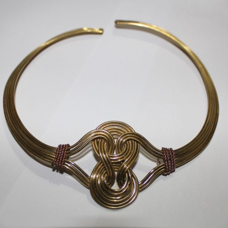 Collier Tribal métal doré