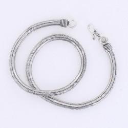 Collier Snake métal argenté 43 cm