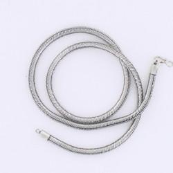 Collier Snake métal argenté 51 cm