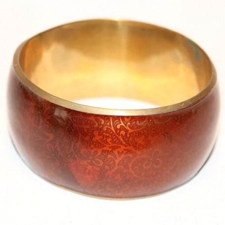 Bracelet Cuivre & Verni rouge