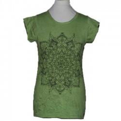"""T-Shirt Femme en Coton """"Mandala"""" S/M"""