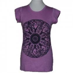 "T-Shirt Femme coton ""Mandala Foret"" S/M"