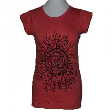 "T-Shirt Coton Femme ""Mandala Foret"" S/M"