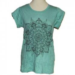 "T-Shirt Coton Femme ""Mandala"" L/XL"