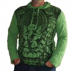 T-Shirt Manche Longue et capuche XL Ganesh Vert
