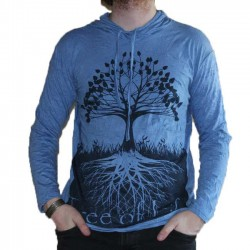 T-Shirt Tree Of Life Bleu Taille S