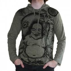 T-Shirt Bouddha Rieur Kaki Taille M