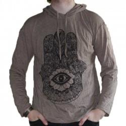 T-Shirt Manche Longue Taille M Khamsa Marron