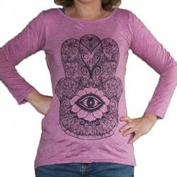 T-Shirt Femme Coton Taille S/M Main