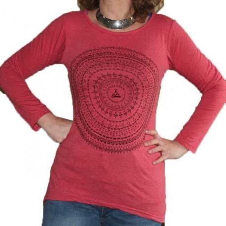 T-Shirt Femme en coton Mandala Indien