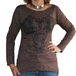 T-Shirt Tunique Manche longue Taille S/M Eléphant