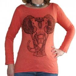 T-Shirt Taille S/M Manche Longue Eléphant