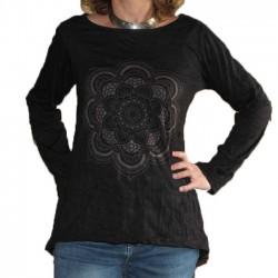 Tunique Femme Taille L/XL Mandala Noir